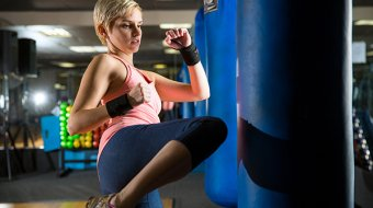 fitness routine kickboxing gym for self defense and independent strength